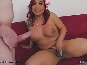 Latino shemale Kai Bailey is dicked down by Demi D. Best